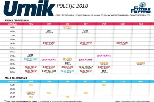 POLETNI URNIK SKUPINSKIH VADB 2018